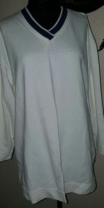 Catalina Vintage White Cotton Sweatshirt